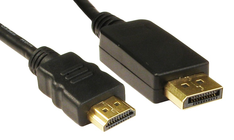 HIGH QUALITY DISPLAY PORT V1.1 TO HDMI CABLE 1.8M (CO090)
