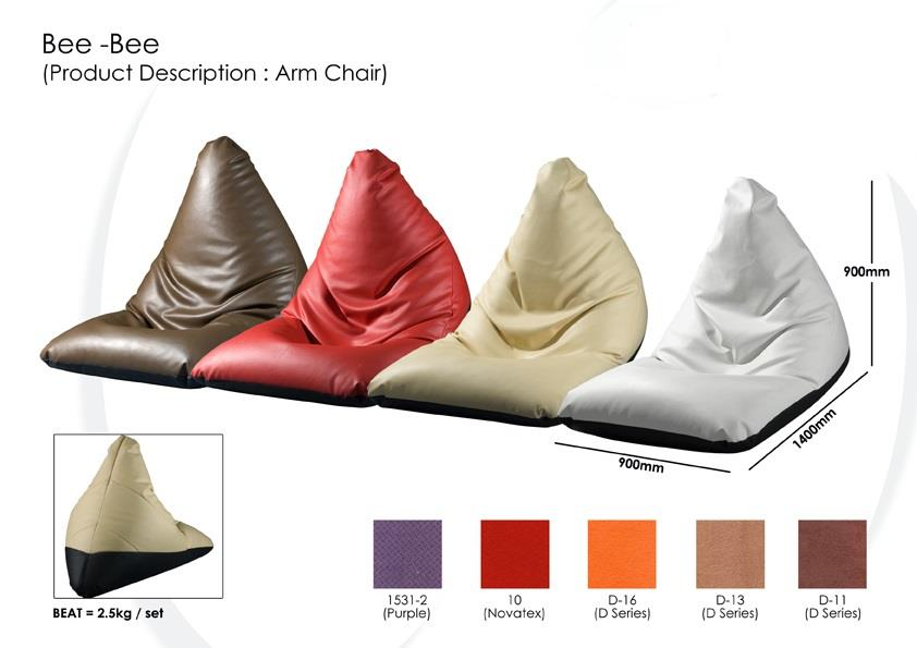 High Quality Fabric Bean Bag With Arm Support Chair