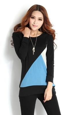 High Quality Fashion Long-Sleeve Blouse (Black)