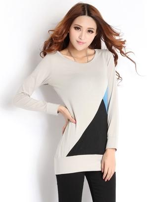 High Quality Fashion Long-Sleeve Blouse (Grey)