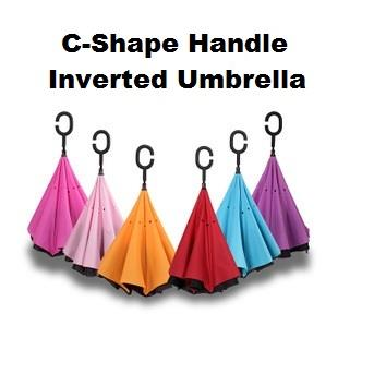 High Quality Inverted Reverse Umbrella Double Layer C Handle