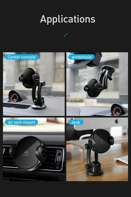 HIGH QUALITY MCDODO Infrared Sensing Auto Lock 10w Wireless Car Charge