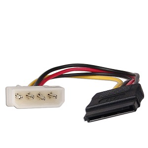 HIGH QUALITY MOLEX 4 PIN (M) TO SATA (F) POWER CABLE (CA216)