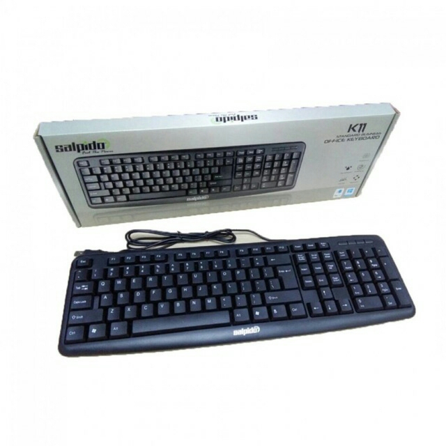 HIGH QUALITY Salpido K11 Standard Business Office Usb Keyboard (Black)