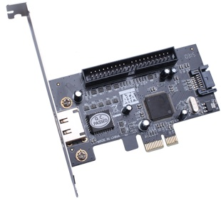 HIGH QUALITY SATA+ESATA+IDE PCI-E CARD (PC71)