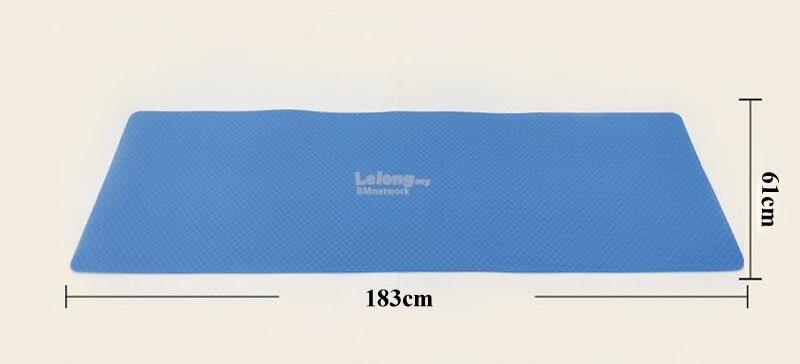 High Quality Non-Slip 183CM X 61CM X 6MM Fitness Pilates TPE Yoga Mat