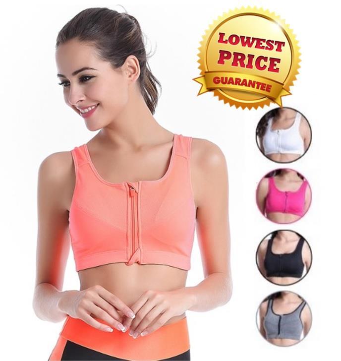 6f30dc4a08586 High Quality Sport Zip Bra Yoga Bra (end 11 9 2019 2 15 PM)