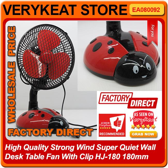 High Quality Strong Wind Super Quiet Table Fan With Clip Hj 180 180mm