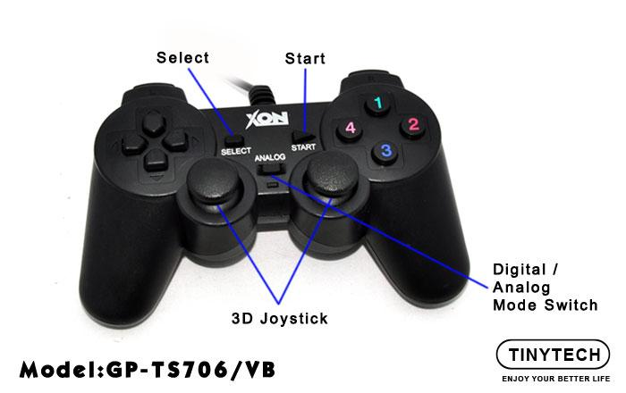 HIGH QUALITY USB2.0 SINGLE JOYSTICK GAMEPAD WITH VIBRATE (TS706)