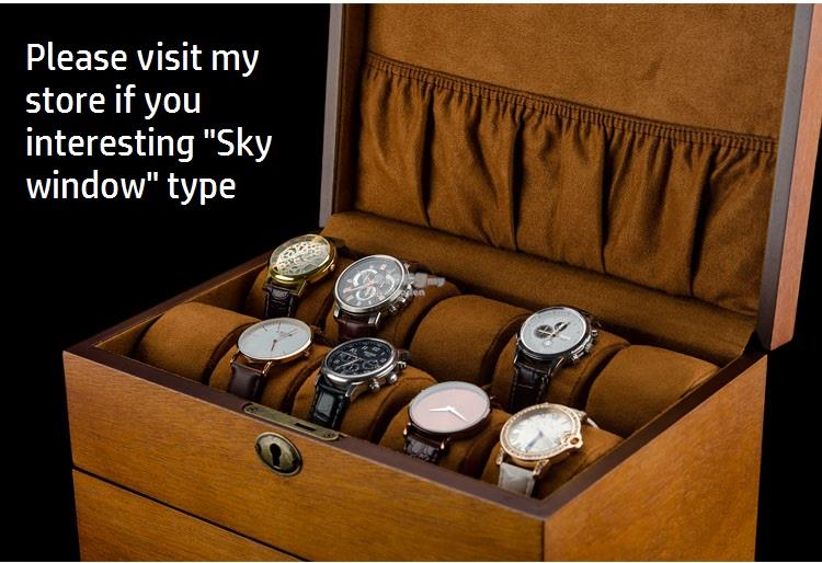 High-end Wooden Watch Storage Box, Solid Wood Watches Collection Boxes