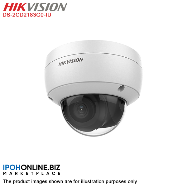Hikvision DS-2CD2183G0-IU 4K 8MP Dome Network IP Camera | IPOHONLINE