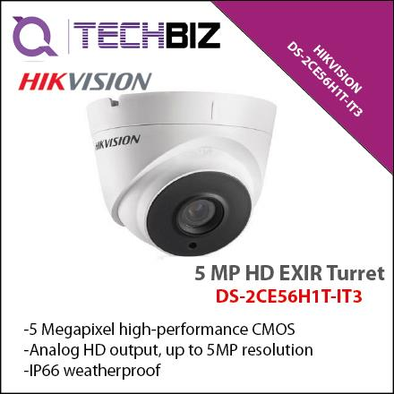 HIKVISION DS-2CE56H1T-IT3 5 MP HD EXIR Turret CCTV Camera