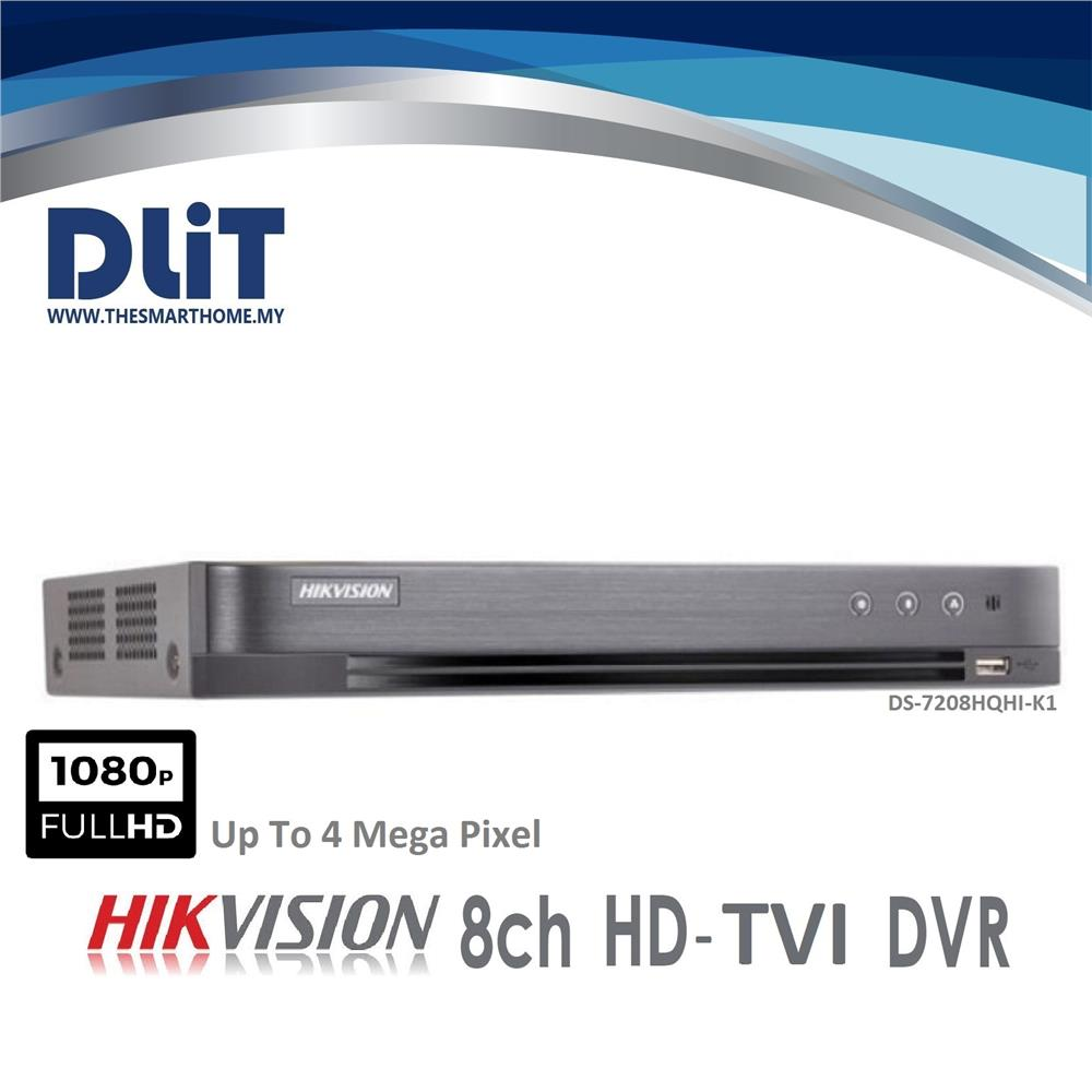 Hikvision DS-7208HQHI-K1 Analog 8 CH 4MP Full HD Digital Video Record