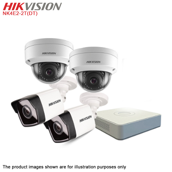 Hikvision NK4E2-2T(DT) 4-CH 2MP Network IP Camera NVR KIT with 2TB HDD