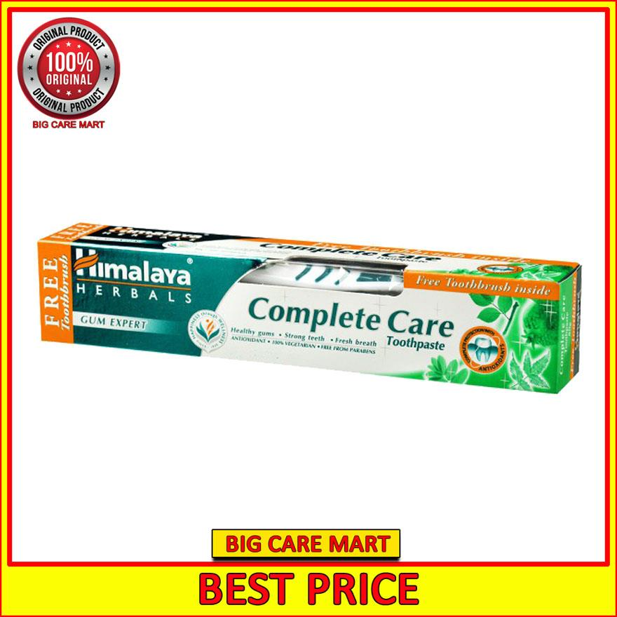 Best Toothpaste 2020.Himalaya Complete Care Toothpaste Herbal 100g Free Toothbrush