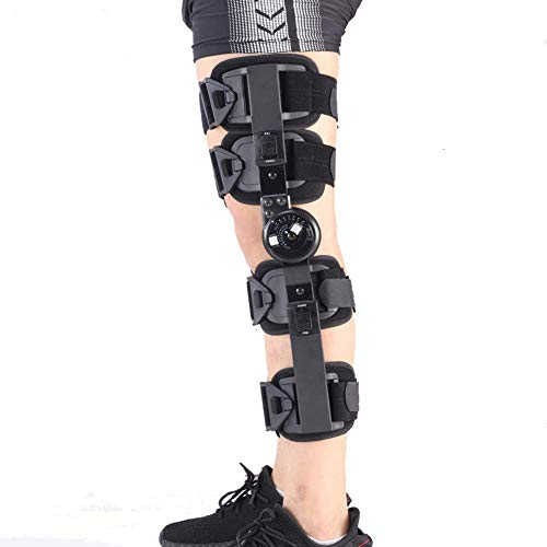 Hinged ROM Knee Brace, Post Op Knee Brace for Recovery Stabilization, Adjustab