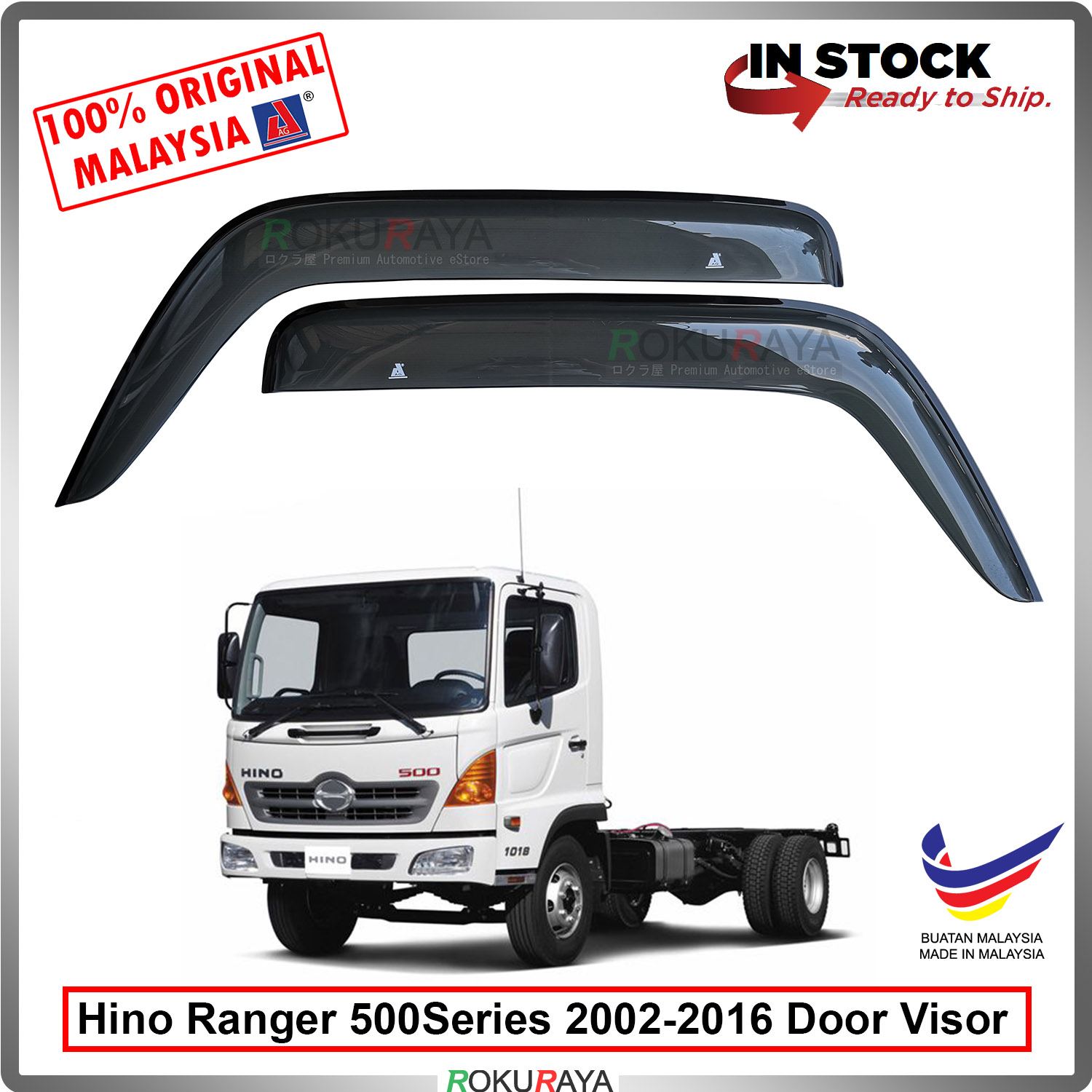 Hino Ranger 500Series 2002-2016 AG Door Visor Air Press Wind Deflector