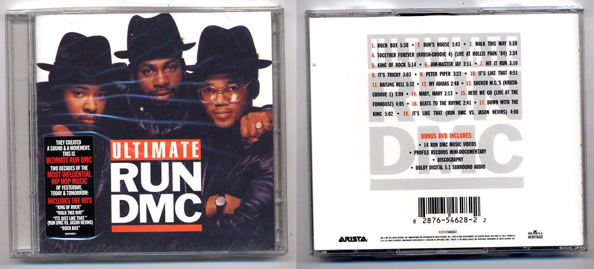 Hip Hop 'Ultimate RUN DMC' CD+DVD, Rare!