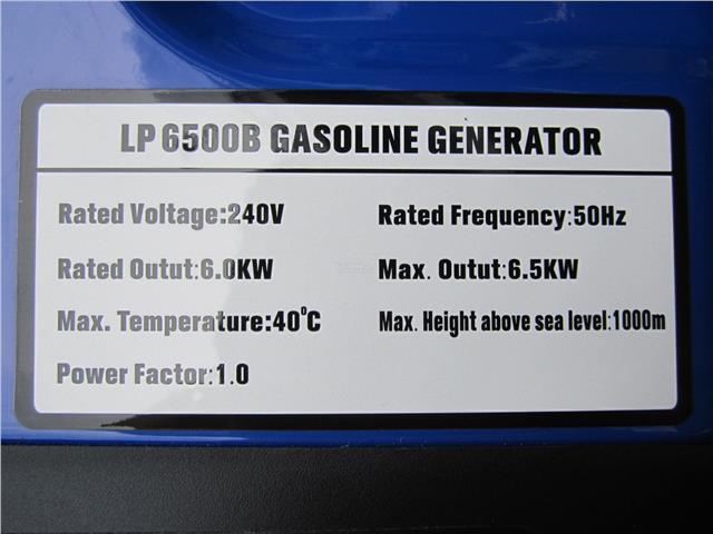 Hisaki 6,500W Portable Gasoline Engine Generator