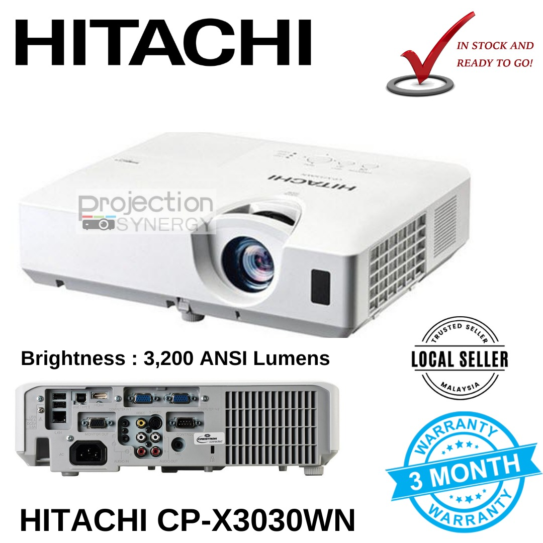 Hitachi CP-X3030WN Projector Refurbished Unit With New Original Lamp