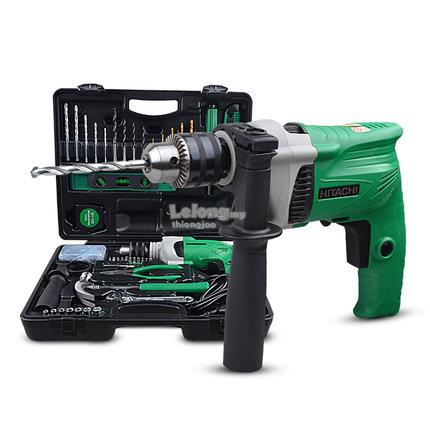 Hitachi DV13VSS Impact Drill 550W + 100Pcs Accessories