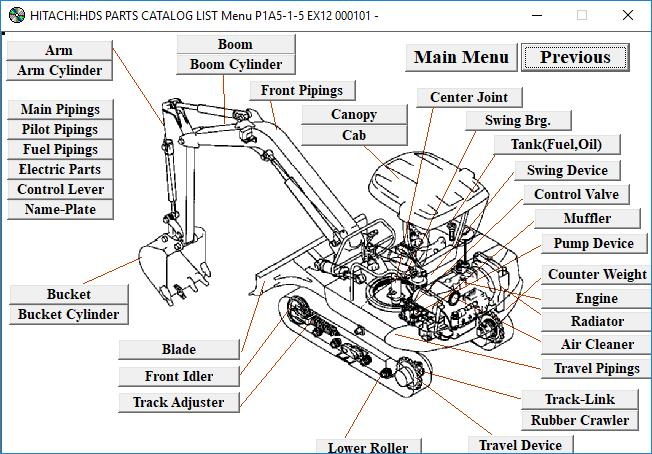 hitachi lx200 wheel loader parts catalog manual