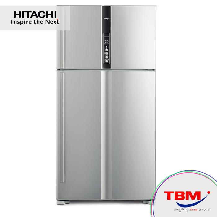 hitachi refrigerator inverter. hitachi r-v710p3mx inx fridge 2dr g660l inverter s.steel hitachi refrigerator inverter y