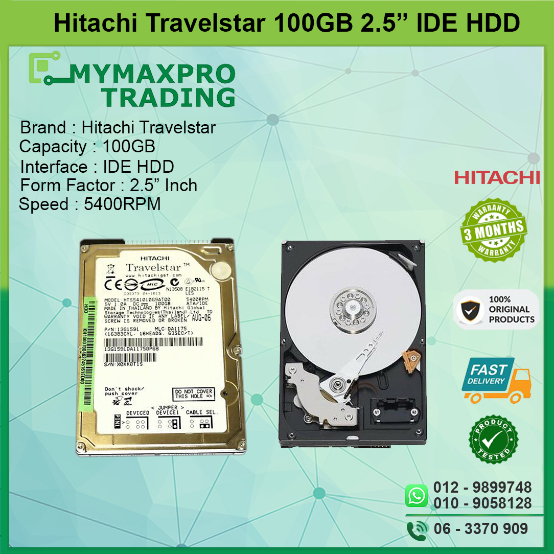 Hitachi Travelstar 100GB 2.5 IDE 5400RPM 13G1591