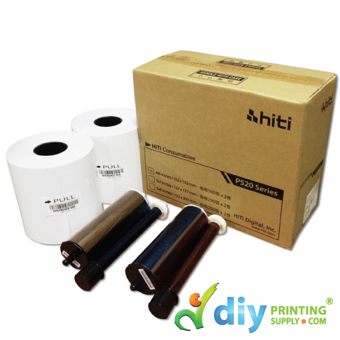 "HiTi Thermal Ribbon & Photo Paper 4R (4"" x 6"") (330 prints x 2 Rolls)"