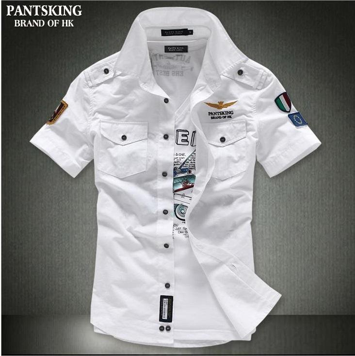 438058f7472 HK Pantsking Fashion plus size men Army Casual Shirt M-4XL. ‹ ›