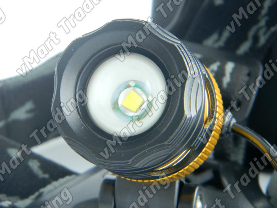 HL-08T6 CREE XM-L T6 Zoomable Direct Charge LED Headlamp