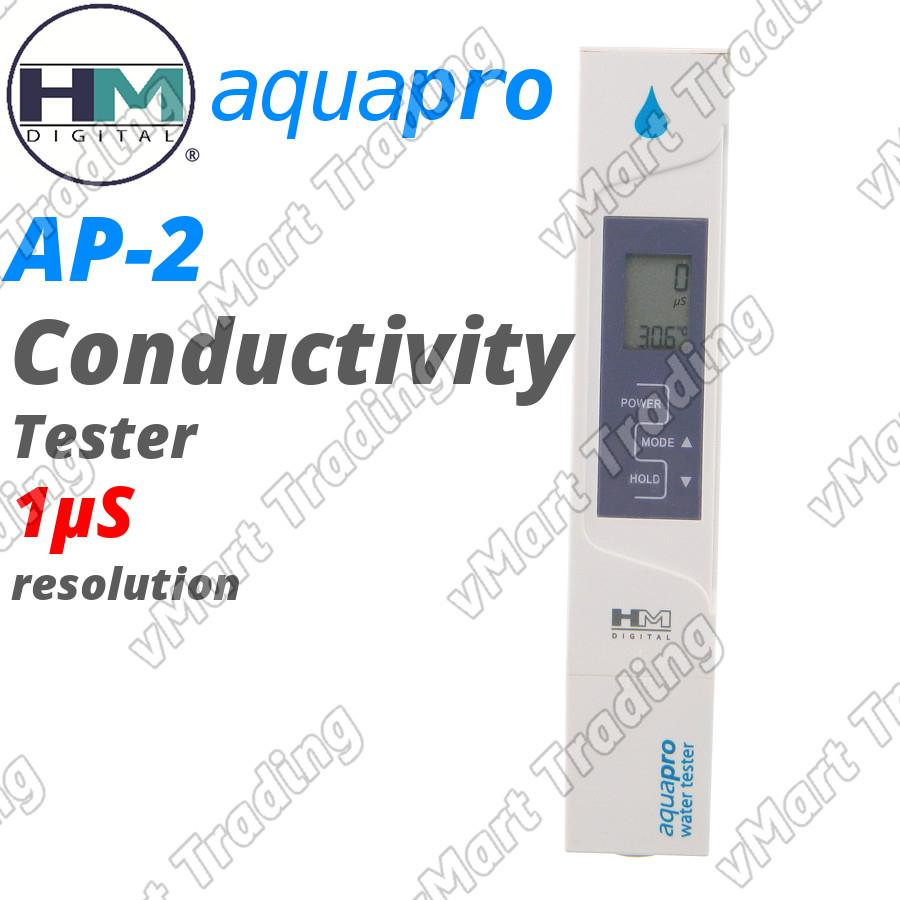 HM Digital AP-2 AquaPro Water Quality Tester EC Meter with ATC
