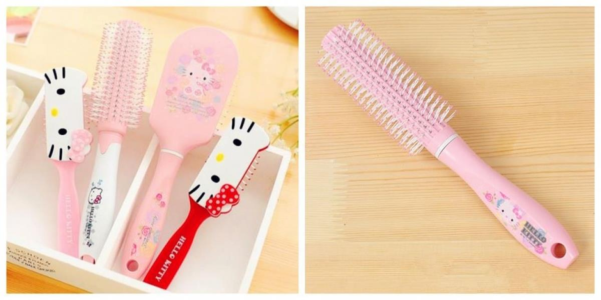 HM0834 PINKY ROLLING SHAPER HELLO KITTY COMB