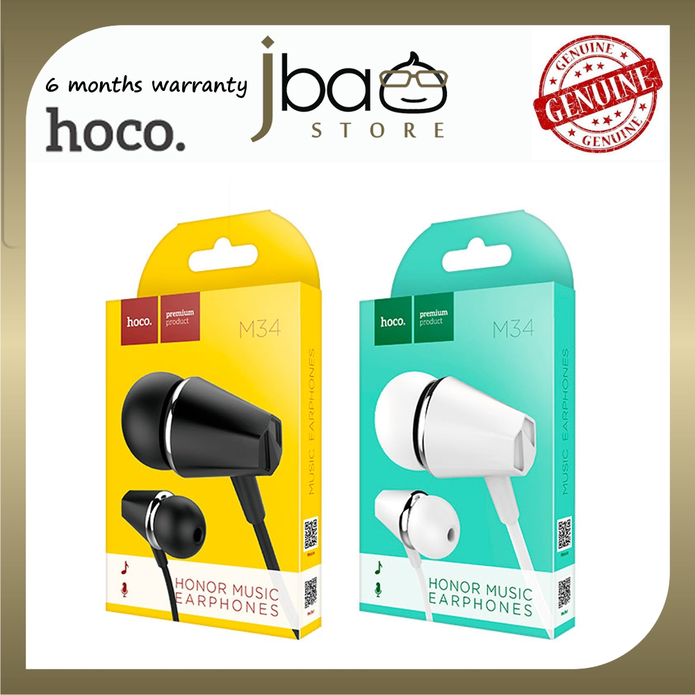 Hoco 1.2M Wired earphones 3.5mm jack M34 Honor microphone headphones