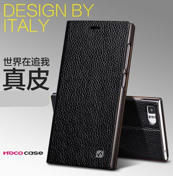 HOCO Cow Leather Xiaomi MI3 mi-3 3 Flip Case Cover + Free SP