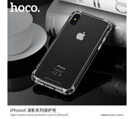 HOCO Light Shadow Series iPhone X Protective Transparent Case Cover