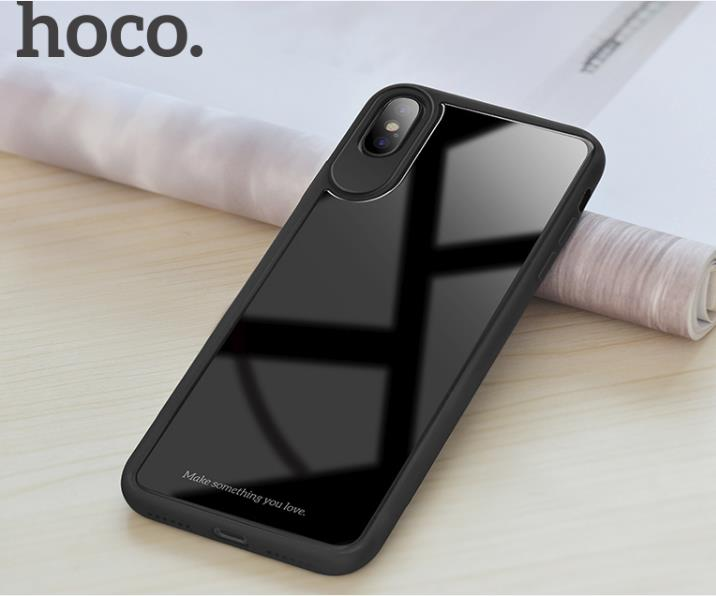 HOCO Zero Point iPhone X Tempered Glass Back Bumper Case Cover set