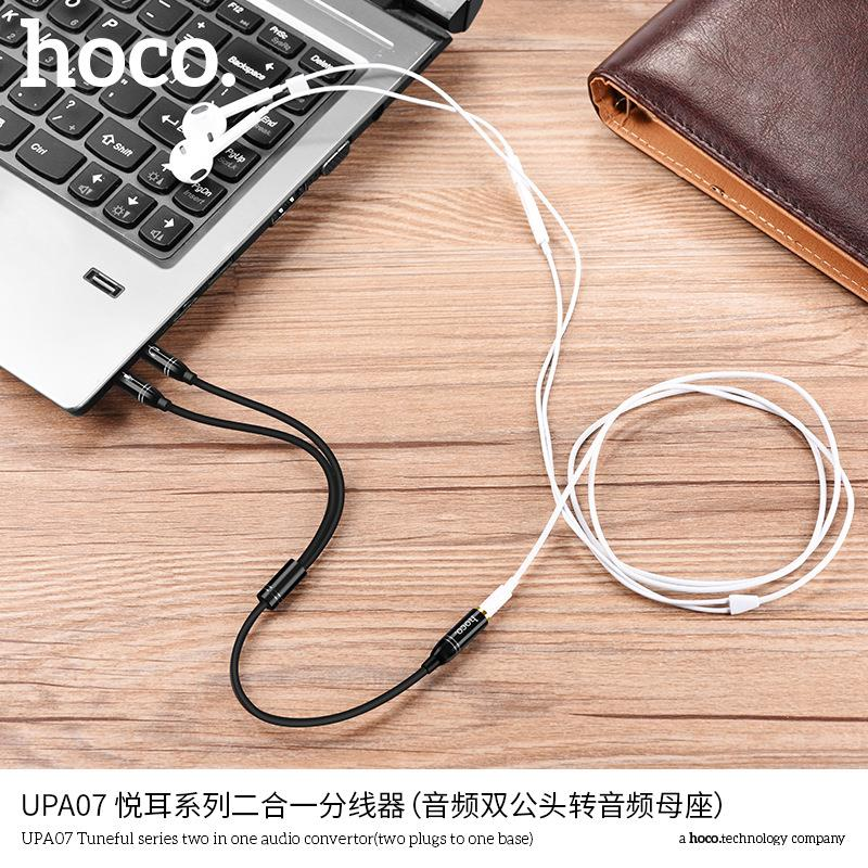 HOCO UPA07 3.5mm 1 Female to 2 Male Ports Audio Converter Cable