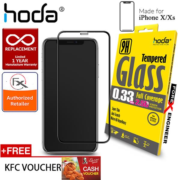 Hoda Tempered Glass for iPhone X / Xs - Full Coverage Screen Protector