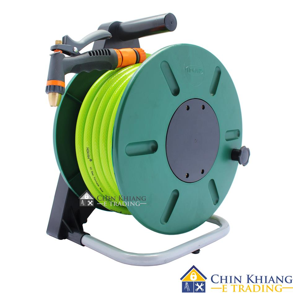 Amazing Hokah Deluxe Garden Hose Reel Set With Tornado Hose 15m Or 25m