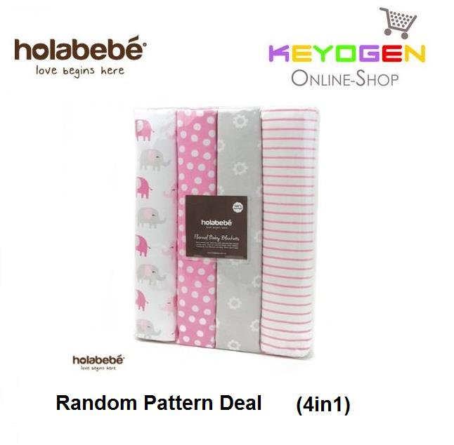 Holabebe 4in1 Set Blanket A498 (Random Pattern Deal)