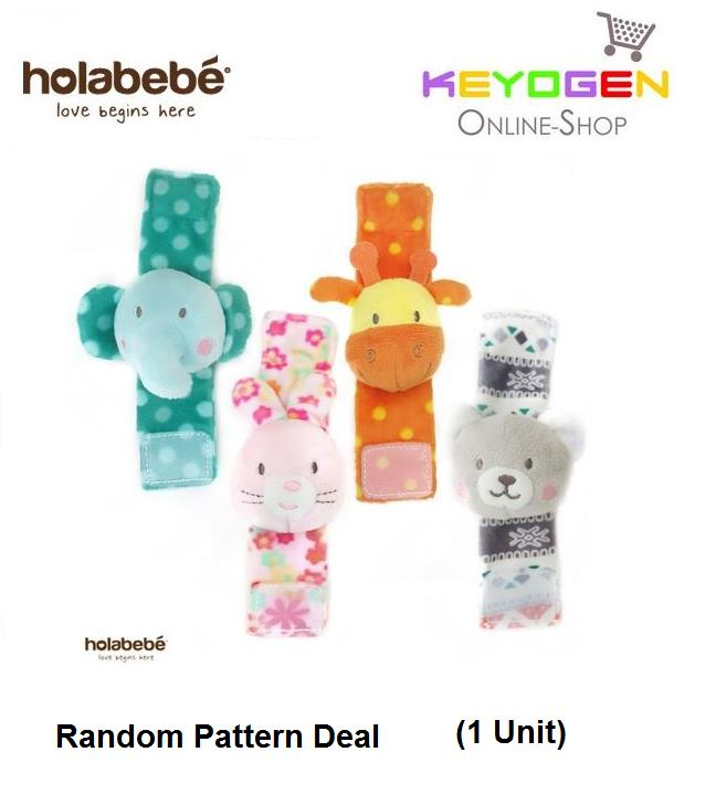 Holabebe Baby Wrist Rattles Hand A516 (Random Pattern Deal)