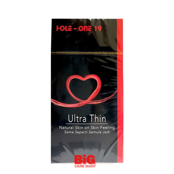 HOLE-ONE 19 ULTRA THIN CONDOM 12S + NATURAL LUBRICANT 50ML