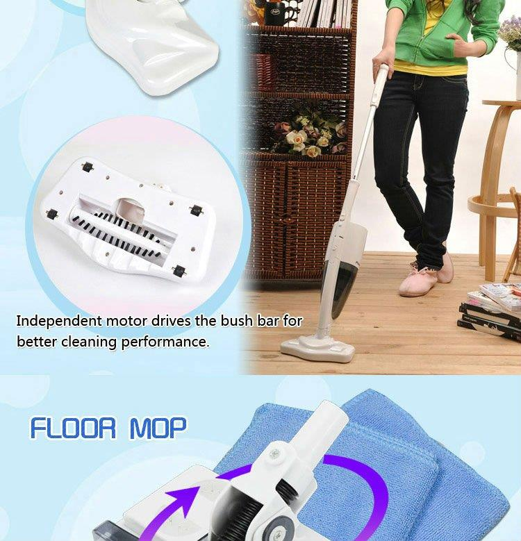 Home & Car Rechargeable Floor & Carpets Cyclone Vacuum 1 hour Sweeper