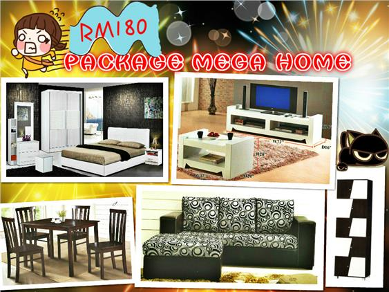 HOME FURNITURE 7 IN 1 SET PACKAGE MEGA HOME ONLY 180'PER-MONTH