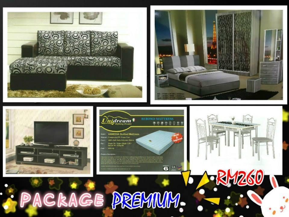 Home furniture package 7 in 1 payment per --month