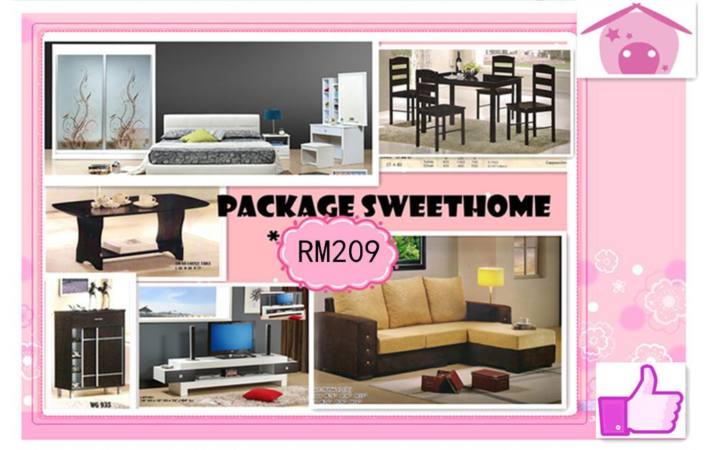 Home furniture package 7 in 1 payment per-month