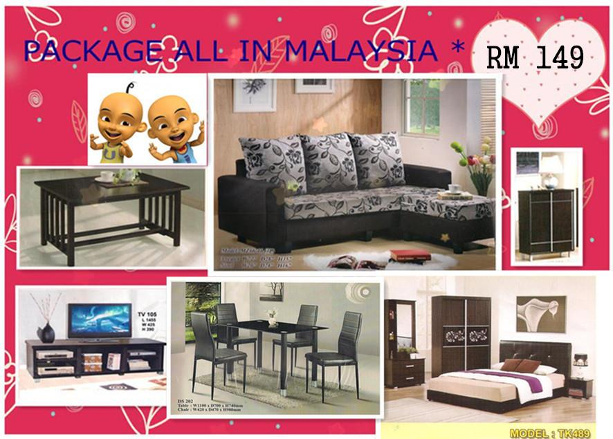 Home furniture package 7 in  1 payment permonth