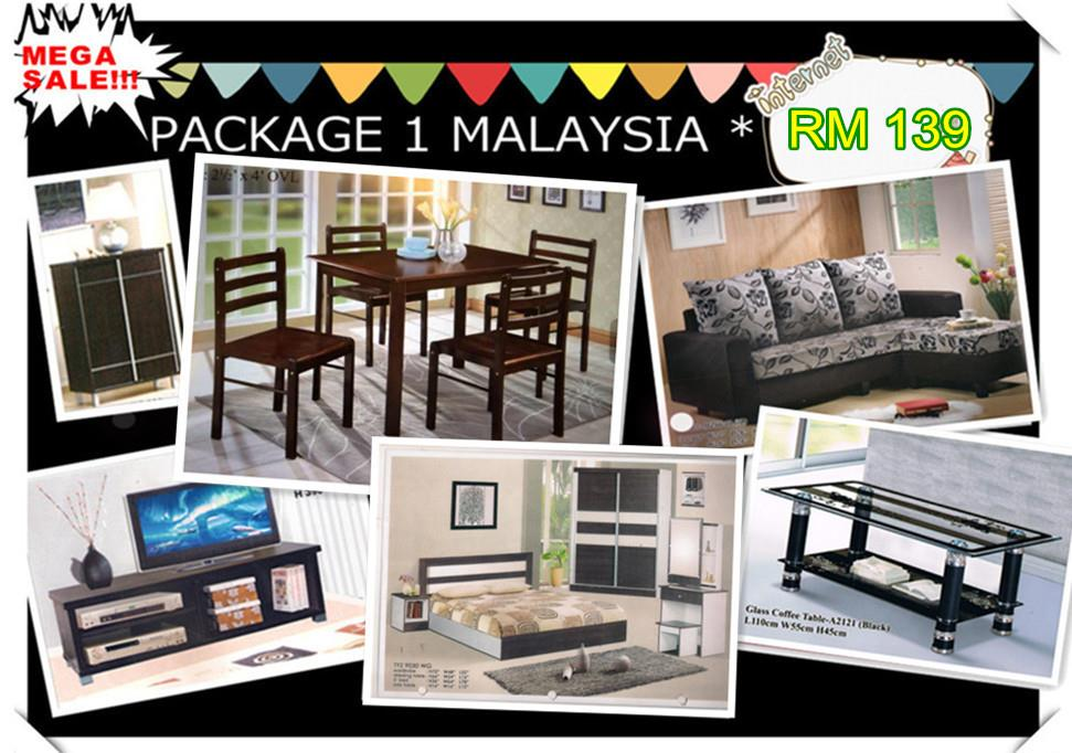 Home furniture package 7 in-1 payment permonth