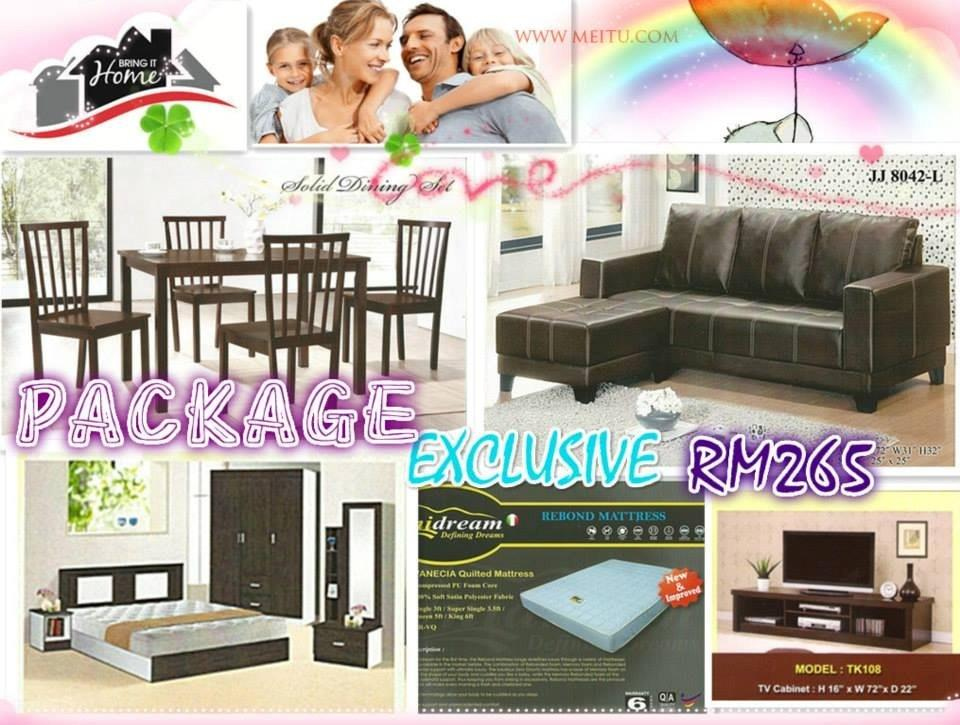 Home furniture package 7in 1 payment permonth